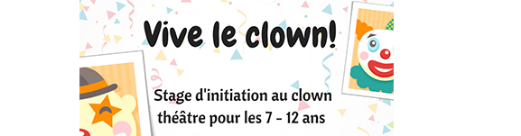 Stage initiation au clown théâtre Enfants