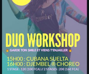 Stage Duo Workshop Dimanche 7.04.2019