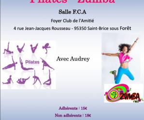 Atelier Pilates/Zumba le samedi 03/10/20